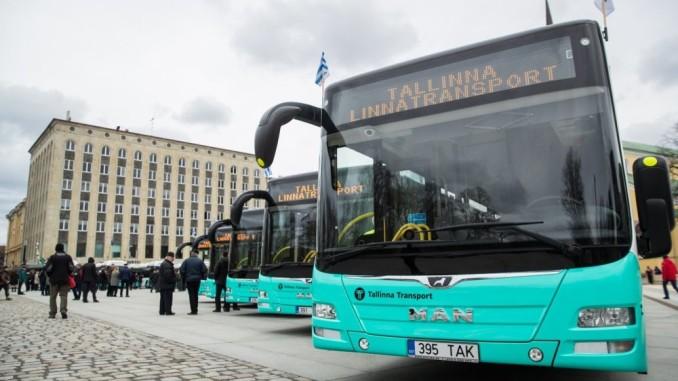 Общественный транспорт в Эстонии стал бесплатным